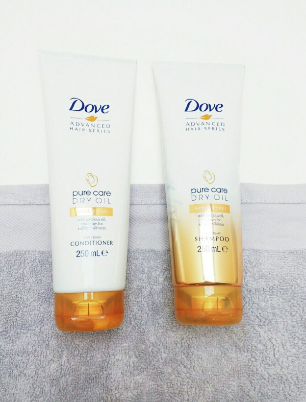 dove advanced hair series pure care dry oil shampoo and conditioner